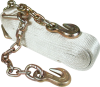3 in. x 25 ft Recovery Strap with Chain Leads -- 8020982 - Image