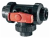 True Union, Three-Way Four-Position Ball Valve, 1/2