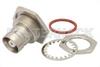 C Female Bulkhead Mount Connector Solder Attachment Solder Cup Terminal, .720 inch D Hole -- PE4240 -Image