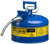 Justrite Accuflow Red 2 1/2 gal Safety Can - 12 in Height - 11 3/4 in Overall Diameter - 697841-14081 -- 697841-14081