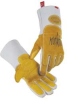 Glove,Welding,14 In L,Gold and Gray,L,Pr -- 23J986