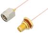 SMA Male to SMA Female Bulkhead Cable 36 Inch Length Using PE-020SR Coax, RoHS -- PE34241LF-36 -Image