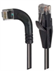 Category 5E Right Angle Patch Cable, Straight/ Right Angle Left Exit, Black, 1.0 ft -- TRD815RA6BLK-1 -Image