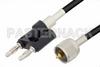 UHF Male to Banana Plug Cable 60 Inch Length Using RG58 Coax -- PE3010-60