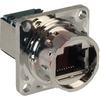 connector,metalized plastic,square flange panel recept,rj45 ethernet,black -- 70026477