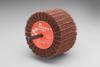 3M Scotch-Brite CB-ZS Coated Aluminum Oxide Flap Wheel - 80 Grit - 1 3/4 in Face Width - 3 in Diameter - 80801 -- 051144-80801 - Image