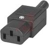 Plug Assembly, Power; 10 A; 250 VAC; 1000 Megohms (Min.); Nylon; 18 AWG -- 70133305 - Image