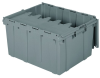 Akro-Mils Keepbox 17.2 gal 80 lb Gray Industrial Grade Polymer Attached Lid Container - 24 in Length - 19 1/2 in Width - 12 1/2 in Height - 39175 GREY -- 39175 GREY - Image