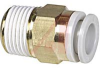 Fitting, Pneumatic, male connector, 1/2R(PT) port, for 16mm tubing -- 70071578