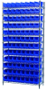 Akro-Mils 2000 lb Adjustable Blue Chrome Steel Open Adjustable Fixed Shelving System - 48 Bins - 2000 lb Total Capacity - AWS143630150 BLUE -- AWS143630150 BLUE - Image