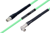 Temperature Conditioned SMA Male to SMA Male Right Angle Low Loss Cable 18 Inch Length Using PE-P142LL Coax -- PE3M0128-18 -Image