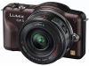 Panasonic Lumix DMC-GF3X Brown 12.1mp 3D Ready Compact System Camera w/ 3 Premium 14-42mm Zoom Lens Kit -- DMC-GF3XT