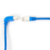 10FT Blue CAT6 250MHz Angle Patch Cable S/FTP CM Down-Straight -- EVNSL216S-0010-90DS - Image