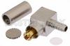 MC-Card Plug Right Angle Connector Crimp/Solder Attachment for RG174, RG316, RG188, LMR-100, PE-B100, PE-C100, 0.100 inch -- PE44308 -Image