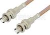 SHV Plug to SHV Plug Cable 48 Inch Length Using RG400 Coax, RoHS -- PE34424LF-48 -Image