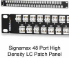 Signamax Ultra High-Density 1U Fiber Optic Patch Panels -- SX-48HD1LC-FT-C -- View Larger Image