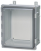 Enclosure, Hinged, Transparent Screw Cover With SS Quick Release Latch -- ARCA-JIC AR14127CHSST