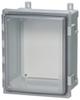 PC Enclosure, Hinged Transparent Screw Cover W/Plastic Quick Release Latch -- AR12106CHLT