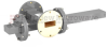 20 dB WR-137 Waveguide Crossguide Coupler with UG-344/U Round Cover Flange and SMA Female Coupled Port from 5.85 GHz to 8.2 GHz in Bronze -- FMWCT1100 -Image