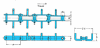 RF Flow Conveyor Chains for FC Type Horizontal Flow Conveyor - B Attachment -- RF10125-M - B - Image