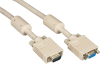3FT VGA Video Cable with Ferrite Core, Beige, Male/Female -- EVNPS06-0003-MF - Image