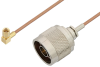N Male to SSMC Plug Right Angle Cable 72 Inch Length Using RG178 Coax -- PE3C4467-72 -Image