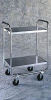 CARTS - Tubular, Stainless Steel, 400 Lb Capacity, Lakeside, 18 x 27 (9 1⁄2), 20 x 30 x 35 3⁄4 -- 1161108