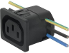 IEC Appliance Outlet F, Snap-in Mounting, Front Side, IDC Terminal