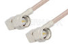 SMA Male Right Angle to SMA Male Right Angle Cable 48 Inch Length Using 75 Ohm RG179 Coax, RoHS -- PE3858LF-48 -Image