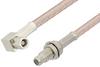 SMC Plug Right Angle to SMC Jack Bulkhead Cable 24 Inch Length Using RG316-DS Coax -- PE34474-24 -Image