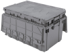 Akro-Mils Keepbox 16.83 gal 100 lb Gray Industrial Grade Polymer Attached Lid Container - 27 in Length - 17 in Width - 12 1/2 in Height - 39160 GREY -- 39160 GREY - Image