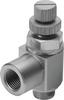 One-way flow control valve -- GRLZ-M5-RS-B -Image