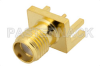 SMA Female Connector Solder Attachment .062 inch End Launch PCB, .030 inch Diameter -- PE4542 -- View Larger Image