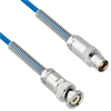 Plenum Cable Assembly TRB 3-Slot Plug to 3-Lug Cable Jack with Bend Reliefs MIL-STD-1553 .150