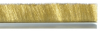 Industrial Brushes - Strip Brushes - Crimped Brass Strip Brush - #4 -- MB406012 - Image