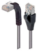 Category 5E Shielded Right Angle Patch Cable, Straight/Right Angle Up, Gray 2.0 ft -- TRD815SRA2GRY-2 -Image