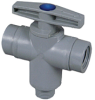 Plastic Three Way Ball Valve -- 629 -- View Larger Image