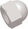 10-32 UNF Commercial Grade Dome Nut, Natural -- AP011032CN