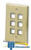 ICC Flush Mount 6-Outlet Modular Faceplates -- ICC-FACE-6
