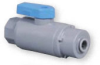 Plastic Two Way Ball Valve -- 638 Series -- View Larger Image