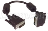 DVI-D Dual Link LSZH DVI Cable Male / Male Right Angle, Top 1.0 ft -- DVIDD-RA2Z-1 -Image