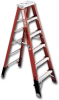 EXTRA HEAVY DUTY FIBERGLASS STEPLADDER -- H7404