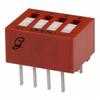 Switch, DIP; 0.480 in. L x 0.380 in. W;4; SPST; Thru-Hole; 0.1 in.; 0.02 in. -- 70216663 - Image
