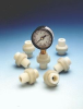 Series GGME Miniature Thermoplastic Diaphragm Seal/Gauge Guard -- GGMEB1-PP - Image