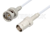 75 Ohm BNC Male to 75 Ohm BNC Female Cable 48 Inch Length Using 75 Ohm RG187 Coax -- PE33445-48 -- View Larger Image