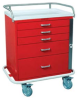 Classic Short Five Drawer Emergency Cart Standard Packa.. -- 6330 -- View Larger Image