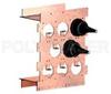 8 Port, Modular, Coaxial, Earthed Entrance Panel -- 8PEEP-M