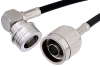N Male to QN Male Right Angle Cable 72 Inch Length Using RG223 Coax -- PE38492-72 -Image