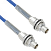 Plenum Cable Assembly TRB Insulated Bulk Head 3-Lug Cable Jack to Jack with Bend Relief MIL-STD-1553 .242
