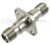 SMA Female (Jack) to SMA Female (Jack) 4 Hole Flange Adapter, Passivated Stainless Steel Body, 1.25 VSWR -- SM4958
